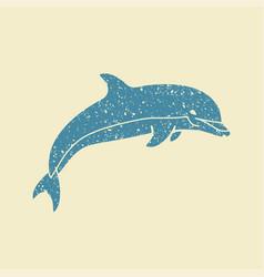 dolphin icon vector image