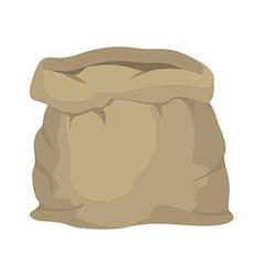 Empty burlap sack Empty bag Bag made of cloth vector