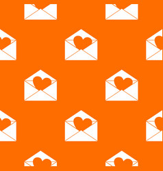 envelope with valentine heart pattern seamless vector image vector image