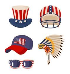 Flag on items usa symbols vector
