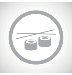 Grey sushi sign icon vector