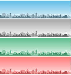 guilin skyline event banner vector image