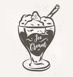 hand drawn ice cream poster stock vector image