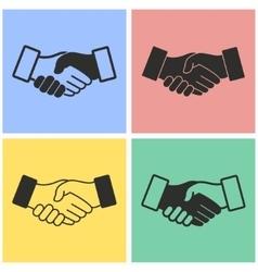 Handshake icon set vector