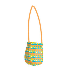 Hippie bag fashion vector