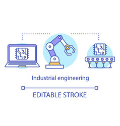Industrial engineering concept icon manufacturing vector
