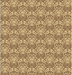 Intricate beige and brown luxury seamless pattern vector