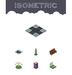 Isometric street set of intersection sitting vector