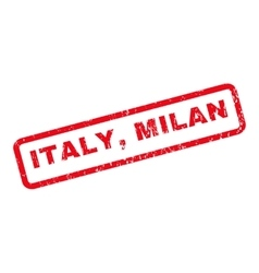 Italy Milan Rubber Stamp vector image