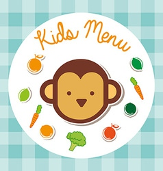 kids menu vector image