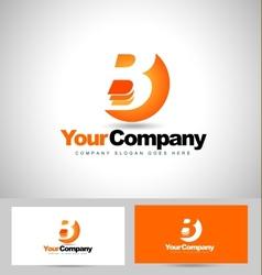 Letter B logo Design vector image