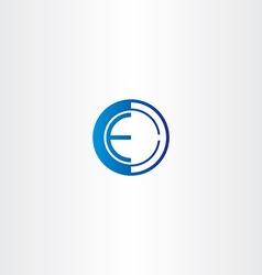 letter e target point logo vector image