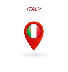 Location icon for italy flag eps file vector