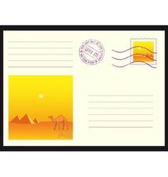 Mail envelope on black vector image vector image
