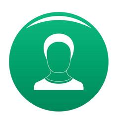 Man avatar icon green vector