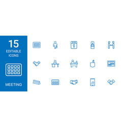 Meeting icons vector