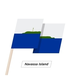 Navassa Island Ribbon Waving Flag Isolated on vector image