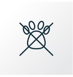 no animals icon line symbol premium quality vector image