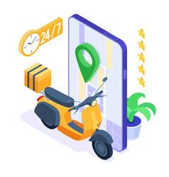 online food order package delivery service vector image