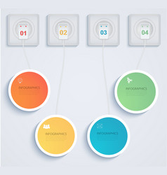Paper elements of infographics with your network vector