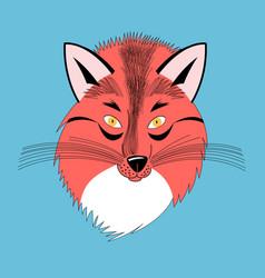 Portrait a fox vector