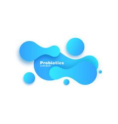 probiotics bacteria design vector image