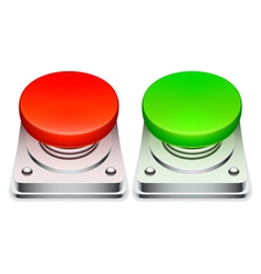 Red and green buttons vector image