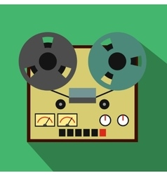 Reel tape recorder flat icon vector