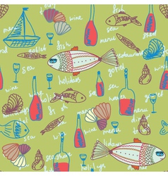 seafood wallpaper vector image