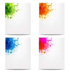 Set Banners With Color Blob vector image