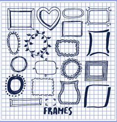 set of cute hand made frames vector image