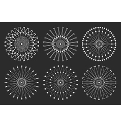 Set of geometric hipster shapes 97rd1black vector