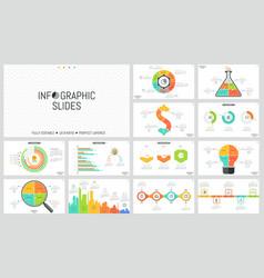 set of minimal infographic design layouts pie vector image