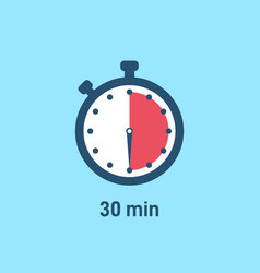 Set sport stopwatch icons showing time vector
