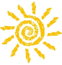 sign in the form of a stylized Sun vector image