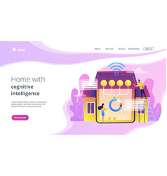 Smart home 20 concept landing page vector