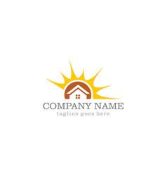 solar house company logo vector image
