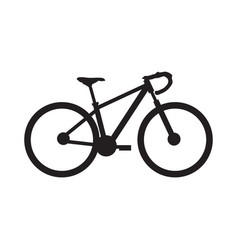 Stylish road bicycle silhouette vector
