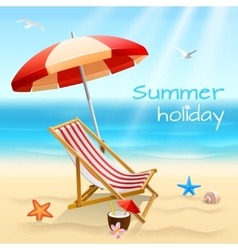Summer holidays background poster vector image