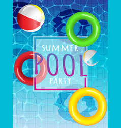 Summer pool vector