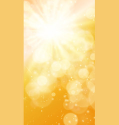 sun realistic blur design with burst rays vector image