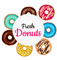 sweet donut advertising banner vector image
