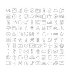 Thin line Icons v2 vector image