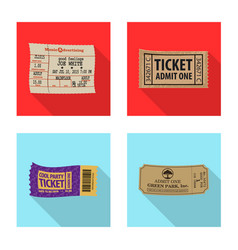 ticket and admission logo vector image