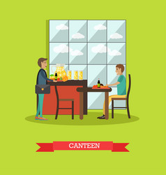 university canteen in flat vector image