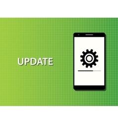 Update apps smartphone in progress concept vector