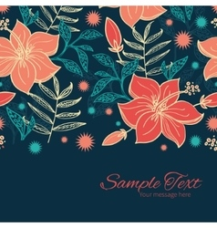 vibrant tropical hibiscus flowers vector image