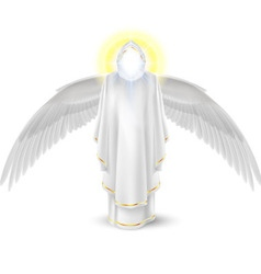 White angel vector