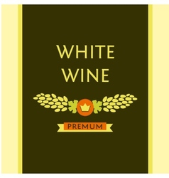 white wine label vector image