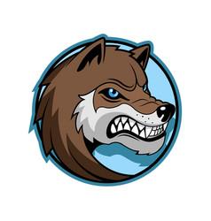 wolf emblem minimalistic vector image